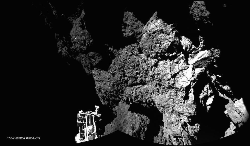Philae 1ere image du sol